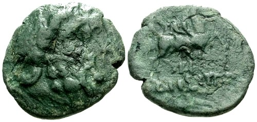 Ancient Coins - VG/VG Thrace Odessos AE21 / Horse and rider