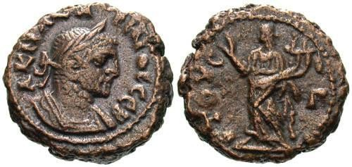 Ancient Coins - VF/VF Carinus AE Tetradrachm of Alexandria