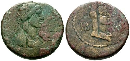 Ancient Coins - gF+/gF+ Kings of Bosporus Queen Gepaepyris AE 12 Units