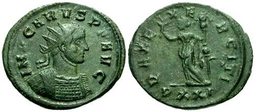 Ancient Coins - VF/aVF Carus Billon Antoninianus / Pax