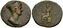 Ancient Coins - Sabina Æ Dupondius / Ceres seated