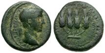 Ancient Coins - Claudius. Lydia. Philadelphia Æ17 / Grain Ears