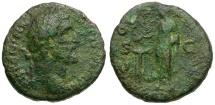 Ancient Coins - Antoninus Pius AE AS / Emperor sacrificing