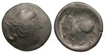 Ancient Coins - Celtic Tribes. Danubian Celts Oltenia and Bucuresti areas AR Tetradrachm / Imitative of Philip II of Macedon