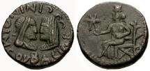 Ancient Coins - EF/VF Bosporian Kings, Ininthimeus Æ Two Denarii / Aphrodite seated