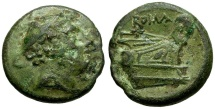 Ancient Coins - 217-215 BC - Roman Republic.  Anonymous Æ Semuncia