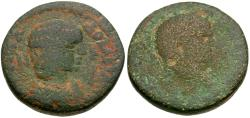 Ancient Coins - Caracalla (AD 198-217). with Julia Domna. Seleucis and Pieria. Emesa Æ21 / Portraits