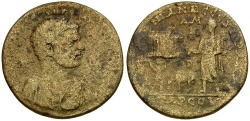 Ancient Coins - Caracalla. Cilicia. Tarsos Æ33 / Sacrificial Scene