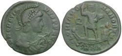 Ancient Coins - Gratian (AD 367-383) Æ Majorina / Emperor in Galley