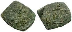 Ancient Coins - Byzantine Empire. Constantine IV Pogonatus Æ Follis