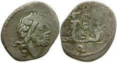 Ancient Coins - 98 BC - Roman Republic. Titus Cloulius AR Quinarius / Victory and Captive