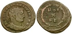 Ancient Coins - Constantius I as Caesar Æ post-reform Radiate / Votive