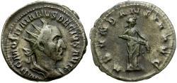 Ancient Coins - Trajan Decius AR Antoninianus / Abundantia