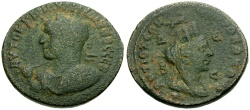 Ancient Coins - Philip II, Syria, Seleucia and Pieria, Antioch Æ30 / Bust of Tyche
