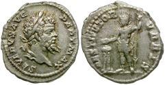 Ancient Coins - Septimius Severus (AD 193-211) AR Denarius / Emperor Sacrificing