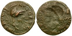 Ancient Coins - Domitian AE Quadrans / Brockage