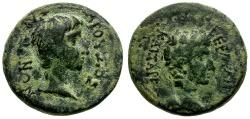 Ancient Coins - Drusus and Germanicus. Lydia. Sardis Æ17