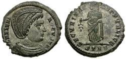 Ancient Coins - Helena Silvered Æ3 / Securitas