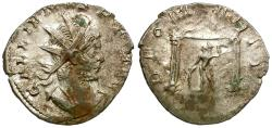 Ancient Coins - Gallienus, joint reign (AD 253-260) AR Antoninianus / Mars in Temple
