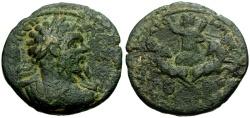 Ancient Coins - Septimius Severus, Pamphylia Attalia Æ29 / Helios in spread Quadriga