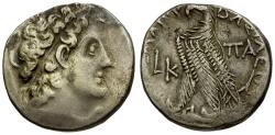 Ancient Coins - Ptolemaic Kings of Egypt.  Ptolemy X Alexander I & Cleopatra Berenike AR Tetradrachm / Eagle