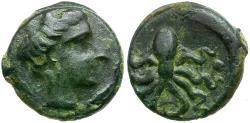 Ancient Coins - Sicily. Syracuse. Second Democracy Æ Tetras / Octopus