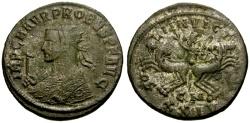 Ancient Coins - Probus Silvered Antoninianus / Sol in Spread Quadriga