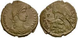 Ancient Coins - Constantius II Æ3 / Fallen Horseman