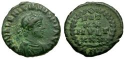Ancient Coins - Valentinian II Æ4 / Wreath