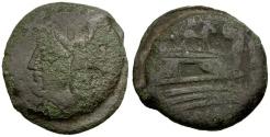 Ancient Coins - 169-158 BC - Roman Republic.  Anonymous Æ AS / Donkey