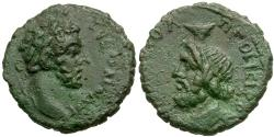 Ancient Coins - Commodus (AD 177-192) with Serapis. Moesia Inferior. Nicopolis ad Istrum Æ17 / Serapis