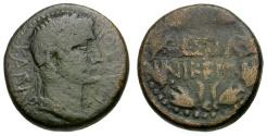 Ancient Coins - Augustus.  Macedon, Thessalonika Æ21 / Wreath