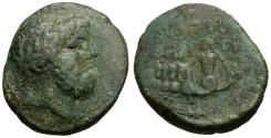 Ancient Coins - Phoenicia.  Berytos Æ22 / Quadriga of Hippocamps