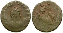 Ancient Coins - Arcadius Æ4 / Victory and Captive