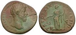 Ancient Coins - Marcus Aurelius (AD 161-180) Æ Sestertius / Providence