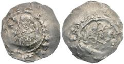 World Coins - Germany. Regensburg. Bishop Heinrich I von Wolfratshausen AR Pfennig