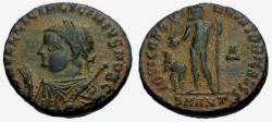 Ancient Coins - VF/VF Licinius II as Caesar Æ3 / Jupiter and captive