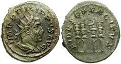 Ancient Coins - Philip I AR Antoninianus / Four Standards