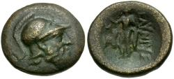 Ancient Coins - Pamphylia. Sillyon Æ18 / Ares