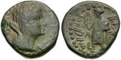 Ancient Coins - Phoenicia. Marathus. Berenike II Æ19 / Marathos
