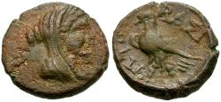 Ancient Coins - Ptolemaic Kings of Egypt. Ptolemy Ceraunus, Son of Ptolemy I (281-279 BC) Æ13 / Eagle