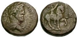 Ancient Coins - aVF/aVF Antoninus Pius, Egypt Alexandria Billon Tetradrachm / Emperor on Horseback