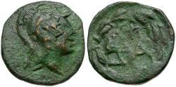 Ancient Coins - Achaia. Dyme Æ Tetrachalkon / Athena