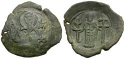 Ancient Coins - *Sear 2486* Byzantine Empire. Andronicus III Palaeologus (AD 1328-1341) Æ Trachy