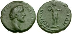 Ancient Coins - Antoninus Pius. Moesia Inferior. Nikopolis ad Istrum Æ20 / Artemis