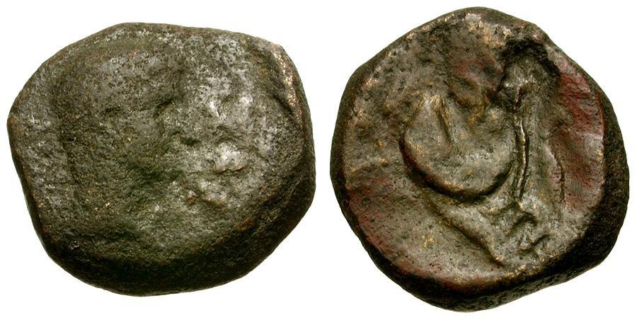 Ancient Coins - Octavian/Augustus.  Egypt, Alexandria Æ 20 Drachmae / Crescent