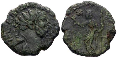 Ancient Coins - aVF/F+ Carausius Follis / Pax