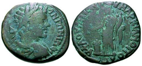 Ancient Coins - gF/gF Caracalla Thrace Marcianopolis AE27 / Concordia