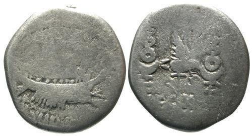 Ancient Coins - F/F Marc Antony Legionary Denarius / Jerusalem Legion X