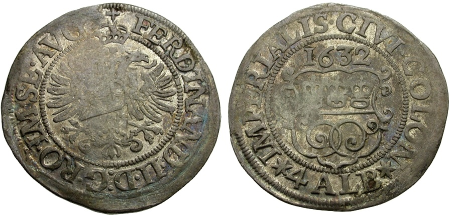 World Coins - Germany.  Cologne City AR 4 Albus